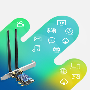 Amazon.com: EDUP PCIe WiFi 6 Card Bluetooth 5.0 AX 3000 Mbps AX200 ...