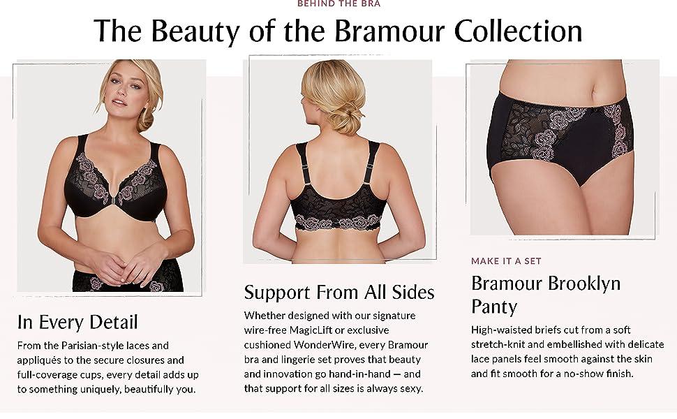 Bramour Madison Bra wire free lace sexy bra magic lift special parisian full coverage beautiful bra