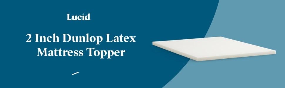 Lucid latex topper latex mattress topper ventilated latex topper supportive topper