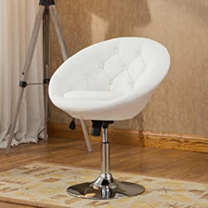roundhill furniture noas round tufted back tilt swivel accent chair