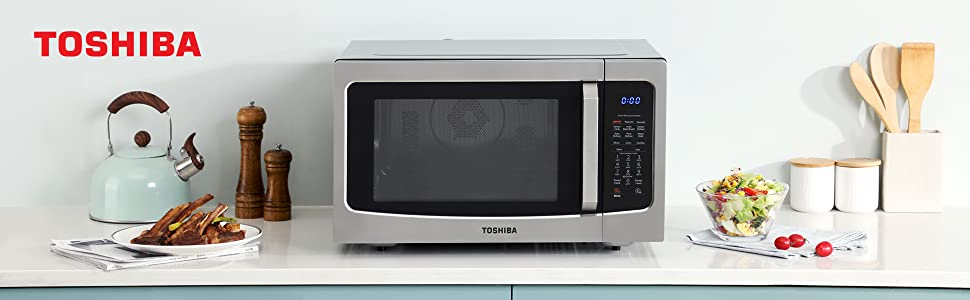 Toshiba EC42PSS microwave oven stainless steel