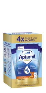 Aptamil Gold+ Stage 3 Toddler Milk Drink Multipack Sachets 4 Pack