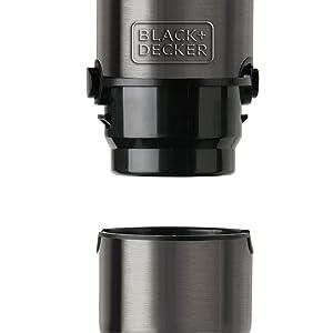 Black+Decker BXHBA1000E Batidora de Mano, 1000 W, Acero