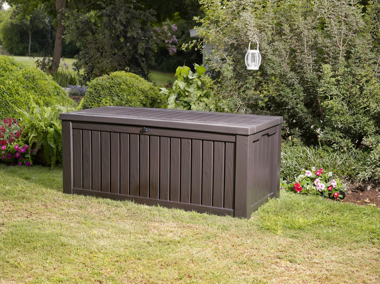 Amazon Com Keter Rockwood Plastic Deck Storage Container