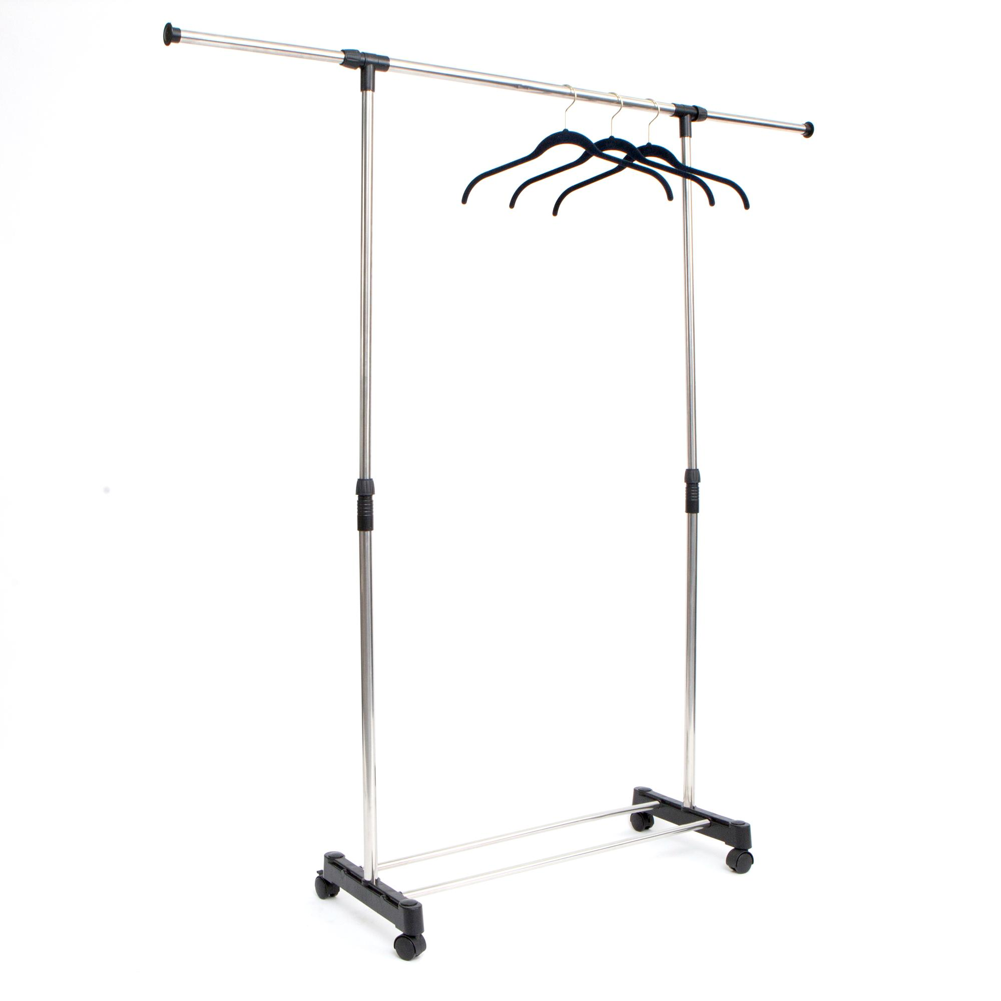 Stainless Steel, Adjustable, Garment Rack, Chrome Finish, Extend,  Extendable Height,. View Larger · Stainless Steel, Adjustable, Garment Rack  ...
