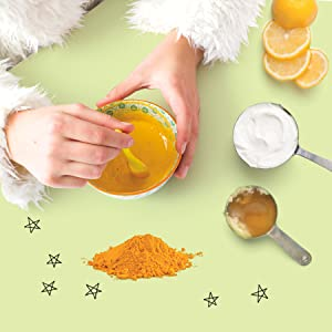 turmuric face mask - Girls' Home Spa Lab: All-Natural Recipes, Healthy Habits, And Feel-Good Activities To Make You Glow