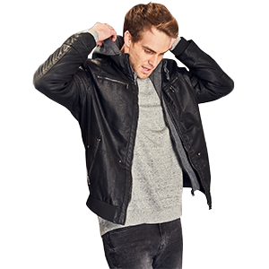 Amazon.com: Wantdo Men's Faux Leather Jacket with