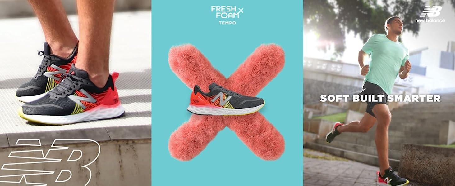 new balance running, men's running, new balance men's running, tempo v1, fresh foam x
