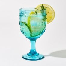Fez Turquoise Wine Goblet Drinking Glass