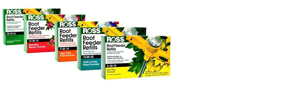 Ross Root Feeder Refills Cartridges Fertilizer Trees Shrubs Evergreens Flowers Drought