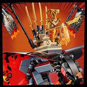 LEGO Ninjago Fire Fang 70674 Toy Snake Building Set with Stud Shooters 463pc