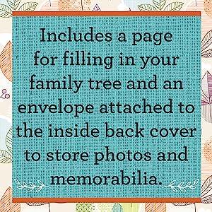 Includes storage for family memorabilia