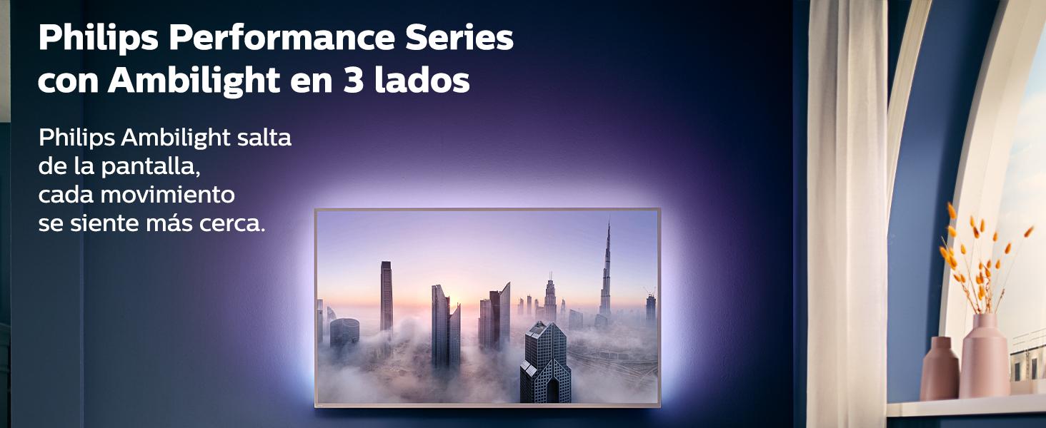 Philips Televisor Ambilight 70PUS8505/12, Smart TV de 70 pulgadas (4K UHD, P5 Perfect Picture Engine, Dolby Vision, Dolby Atmos, Control de voz, Android TV), Color plata claro (modelo de 2020/2021): Amazon.es: Electrónica