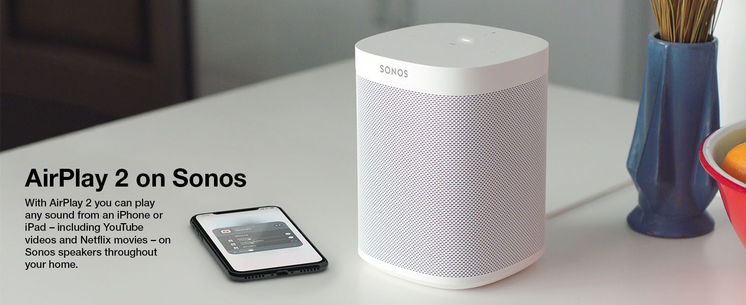 All New Sonos One The Smart Speaker For Music Lovers Backward When Alarmed Noisy Cricket Mk Ii Amplifier Build Take Next Page