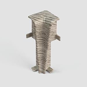 DQ-PP Au/ßenecke 55mm PVC Eiche Schlesisch Laminatleisten Fussleisten aus Kunststoff PVC Laminat Dekore Fu/ßleisten
