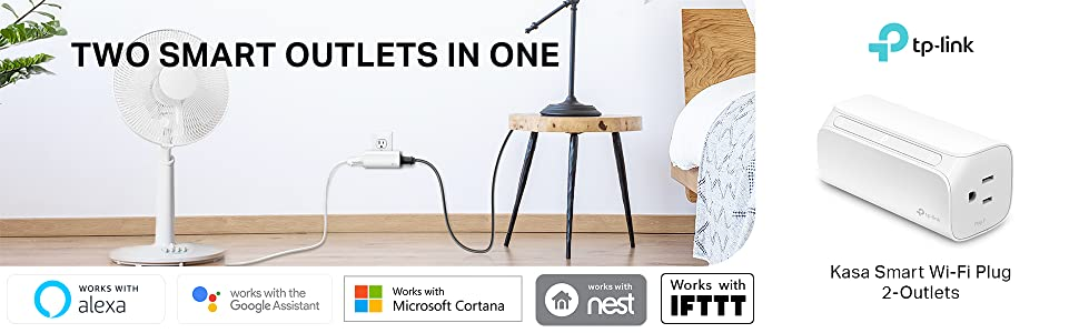 Two Smart Outlets In One