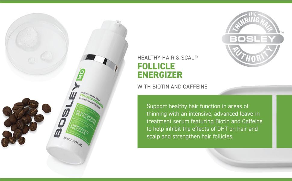 Amazon.com: BosleyMD Follicle Energizer, Fights DHT and Strengthens Hair  Follicles, 1 fl oz.: Bosley: Premium Beauty