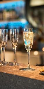 coupes à champagne, flûtes a champagne