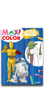 Disney maxi super color lucas star wars marvel droidi millenium falcon jedi yoda luke skywalker solo