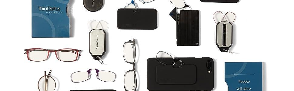 3c7a0ff90053 Amazon.com: ThinOptics Reading Glasses + Black Universal Pod Case ...