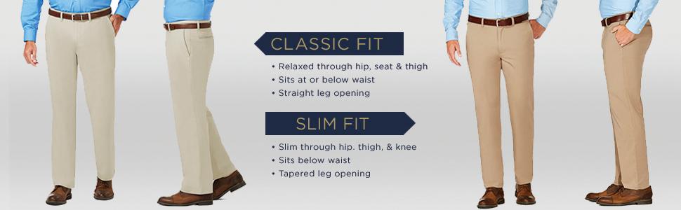 Black Haggar Luxury Comfort Slim Fit Stretch Chino Pant J.M 30Wx34L