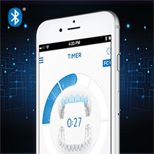Track your brushing via the free Oral-B app