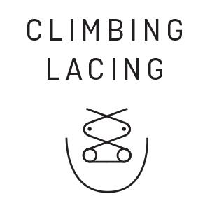 Climbing lacing.