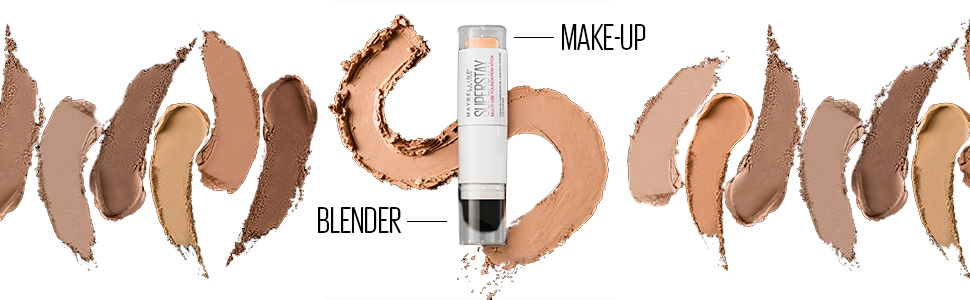 Maybelline super stay multi-function make-up stick textures and nuances