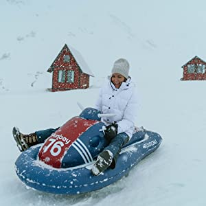 FUNBOY Snowmobile Winter Snow Sled