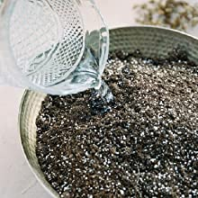 Add water to the potting soil mix and mix in thoroughly.