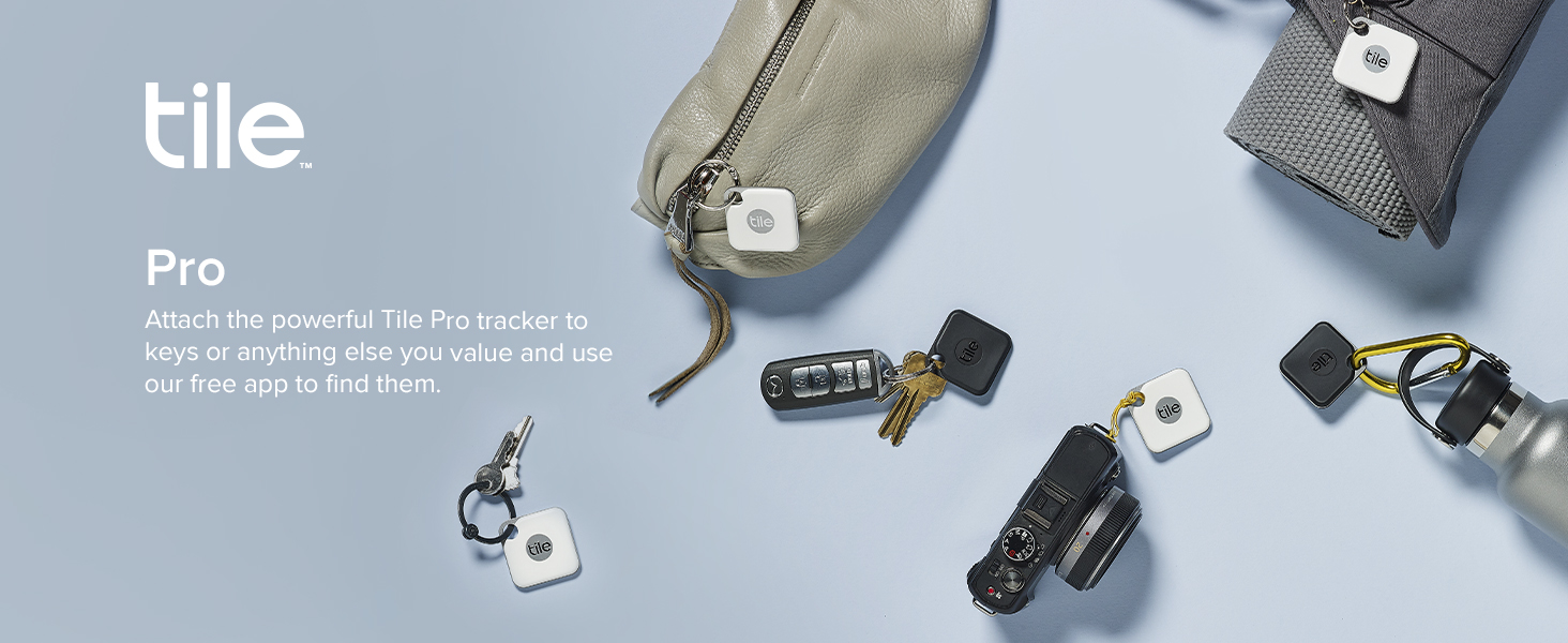 Attach the powerful Tile Pro tracker to your keys or anything else you value