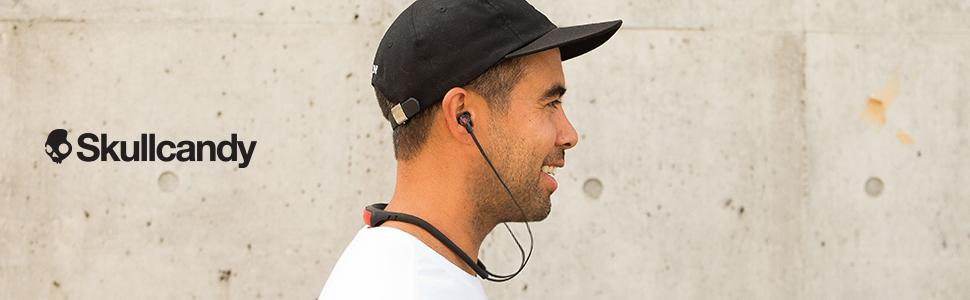 skullcandy bluetooth headphones wireless microphone works with iphone android samsung phones