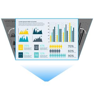 vertical keystone business projector