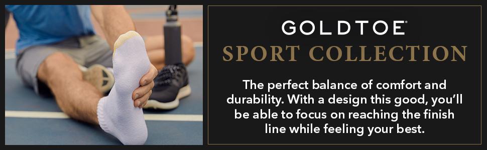 GOLDTOE 656 Sport Socks; Athletic Socks