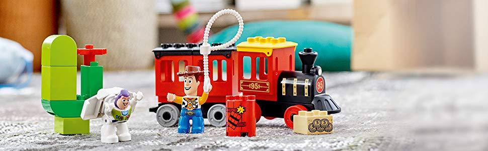 juguete de construcción toy story, tren de toy story