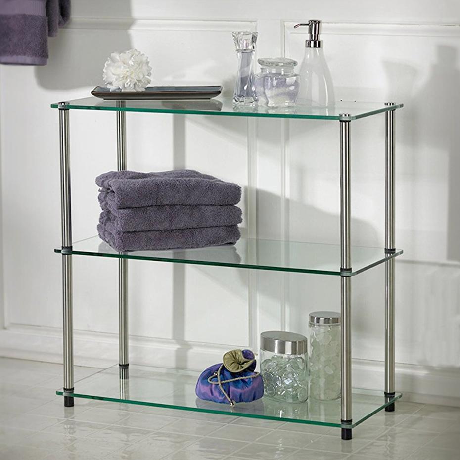 Amazon.com: Convenience Concepts Designs2Go Go-Accsense 3-Shelf Glass Bookcase, Clear Glass