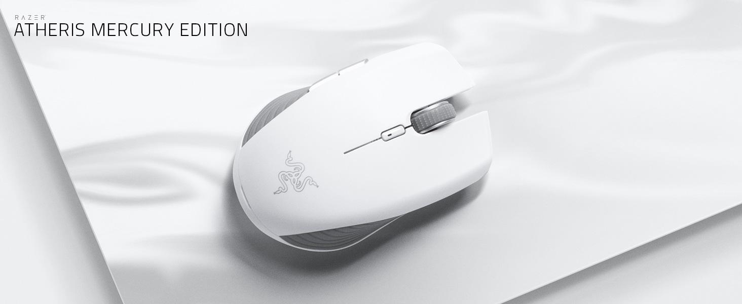USB Wireless Connection 7200 DPI Optical Sensor IDS Home Atheris Ambidextrous Wireless Mouse Matte Black