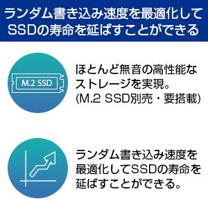 ランダム書き込み速度を最適化してSSDの寿命を延ばすことができる