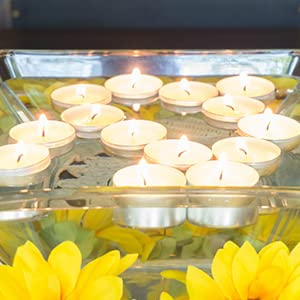 floating, candles, decoration, decor, party, tea light, bulk, long burning, cheap, cotton wick