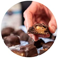 yummy chocolate almond energy bites made with garden of life coconut oil