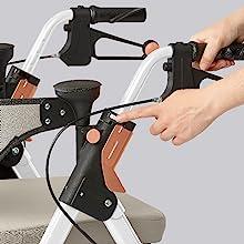 Amazon.com: Medline Premium Empower Andador con asiento ...