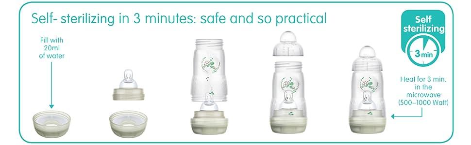 mam anti colic bottles breastmilk storage bottles newborn baby bottles for breastfed babies