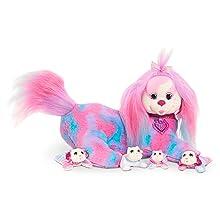 stuffed dog, stuffed puppy, purple, pink, blue puppy, puppy surprise, kitty surprise, pet surprise