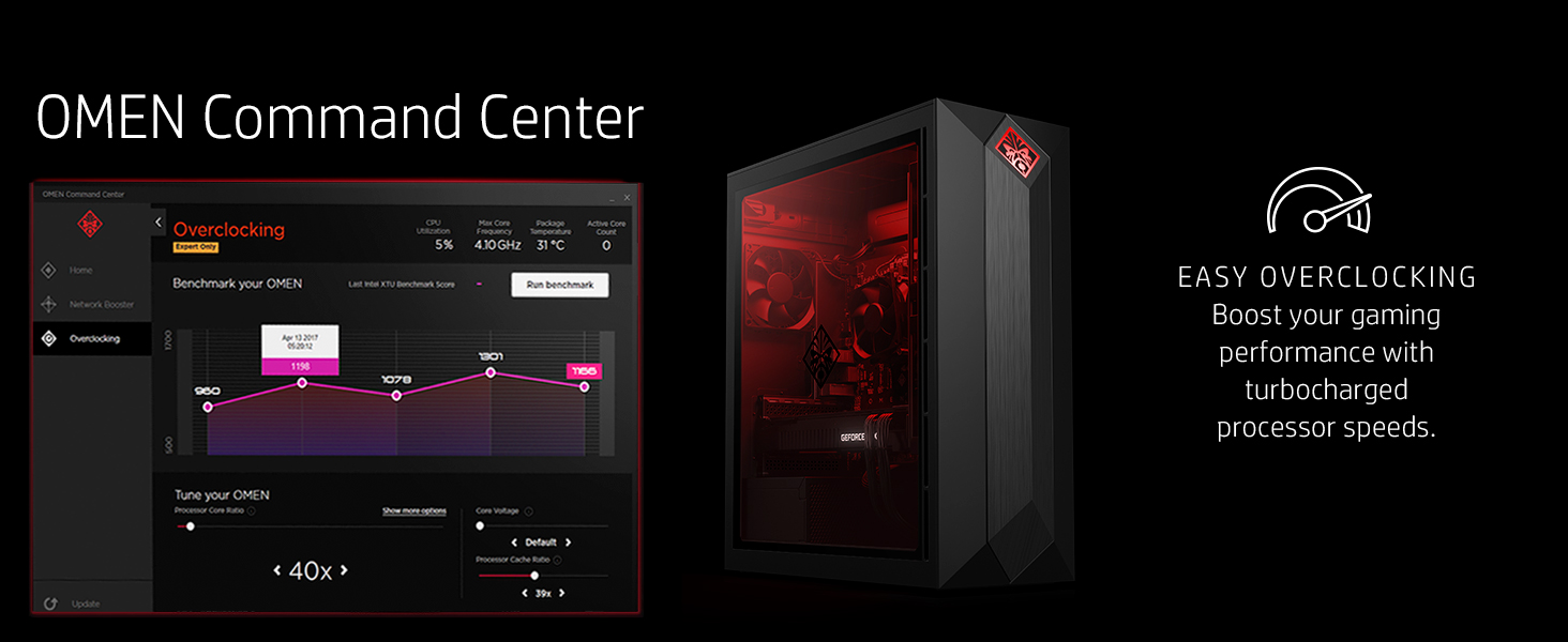 OMEN by HP Obelisk Gaming Desktop Computer, Intel Core i7-9700K Processor,  NVIDIA GeForce RTX 2080 8 GB, HyperX 16 GB RAM, 512 GB SSD, VR Ready,