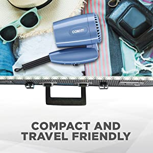Compact, Travel Friendly, Travel Blow Dryer, Easy to pack