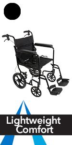 Amazon Com Probasics Aluminum Transport Wheelchair With