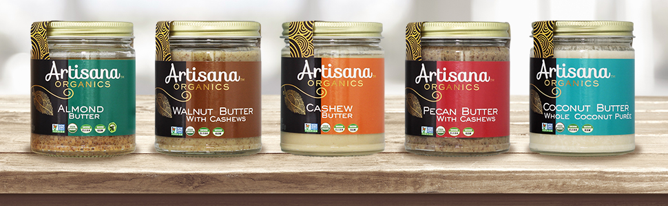 artisana, usda, certified, non-gmo, raw, butter, organic, nut, Handmade, Rich, Thick Spread, oil