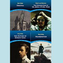 Frankenstein, Dracula, Dorian Gray, Dr. Jekyl & Mr. Hyde