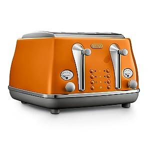 4 slice toaster orange
