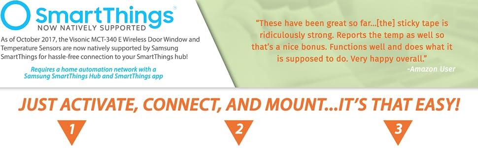 Amazon.com : Visonic MCT-340 E Wireless Door Window Temperature Sensor 2.4ghz ZigBee - Now Works